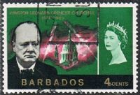 Barbados SG337 1966 Churchill Commemoration 4c good/fine used